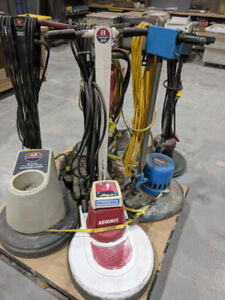 Used 6 polishing ,buffing, cleaning machines with pads.