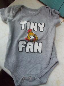 Ottawa Senators Baby Diaper Shirt, Size 6-9 Months