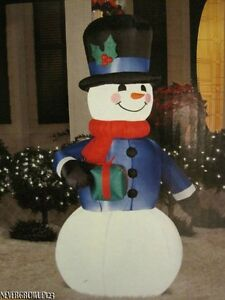 Holiday snowman led lighted inflatable 6 ft yard decor for Indoor christmas decorations sale