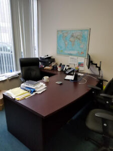 Global Canadian made Front Desk 84 inches with 42 inch return