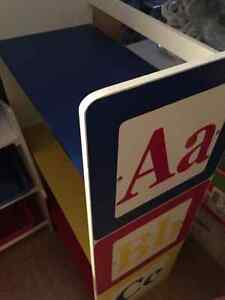 ABC bookcase and matching bookcase with bins