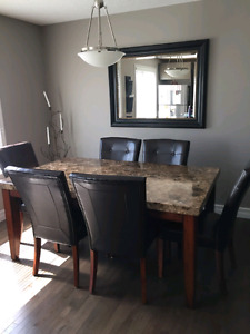 Montibello Dining Table and  Parsons Chairs