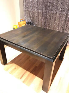 """Wood dining table - 44""""x 50""""x 31""""(H)"""