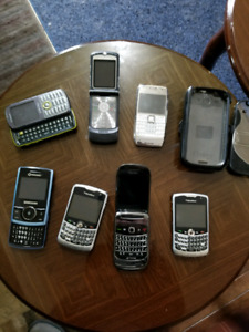 Random cell phones and OtterBox case for Galaxy S3