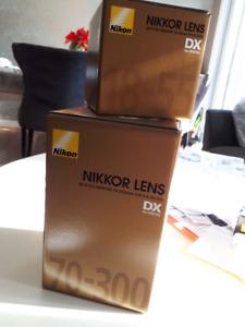 2 Nikkor Camera Lenses - Brand New in Box
