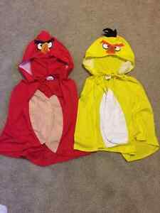 Two Angry birds capes/costumes
