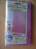 *Shower curtains liner magnetized bottom – PINK 10 $*  Deluxe he