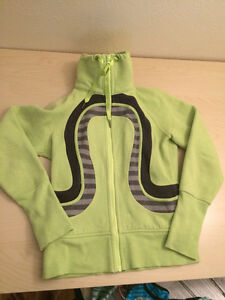 Lime Green Lululemon High Neck Sweater