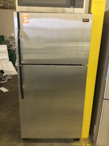 "32"" Norge II Stainless Steel Fridge"