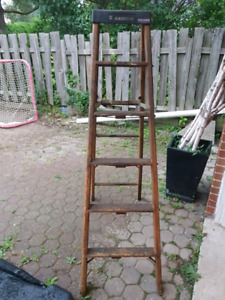 6ft Featherlite wooden ladder