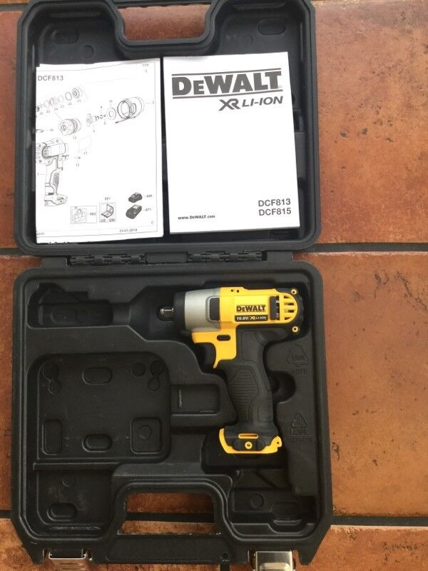 DeWalt DCF813 10.8VOLT COMPACT IMPACT WRENCH BARE UNIT WITH HEAVY DUTY CARRYING CASE