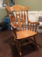 Large Rocking Chair. Solid Birch