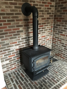 SOLD - Drolet Adirondack Wood Stove Fireplace with Blower