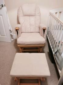Mothercare Glider/Rocking/Nursing Chair - Natural.