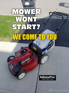 Mobile Lawn Mower Repair • Lawnmower Tune Up • Small Engine