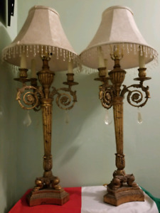 Pair of beautiful antique lamps