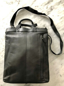 A Danier Black Lambskin Messenger Bag - Excellent Condition!​