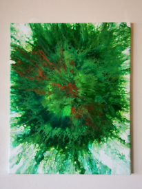 Algae Burst.... Original signed painting.