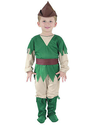 BOYS GIRLS TODDLER  ROBIN HOOD PETER PAN FANCY DRESS COSTUME FITS 2 - 4 YEARS