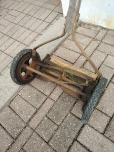 Vintage Eureka push lawn mower