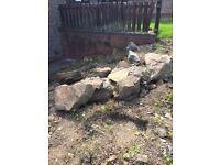 All sizes, Garden Rockery Rocks Stones FREE