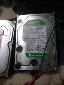 3 hard drives to 500 gig one 2 terabyte the