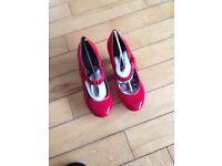 Brand new Hush Puppies red patent leather shoes
