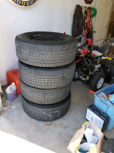 Firestone winter force mud and snow tires and rims