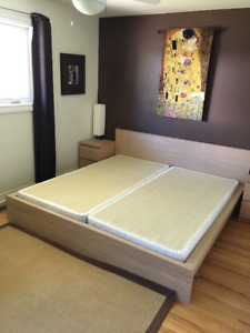 IKEA Malm king sized bed and box springs - $250