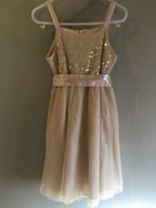 Sz 5 Fancy Beige Dress