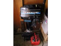 7.5hp mercury short shaft outboard engine