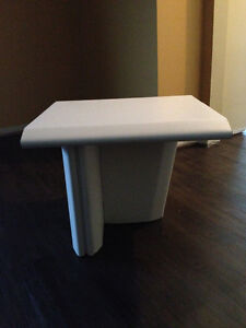 White Small Side table