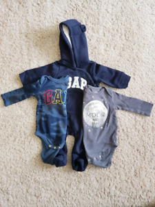 NWOT 3-6 month onesies and sweatshirt