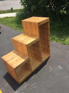 Trofast IKEA storage for kids - wood nicely stained