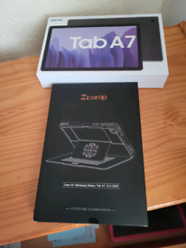 """SAMSUNG TAB A7 10.4"""" TABLET+PREMIUM CASE BOTH NEW BOXED."""