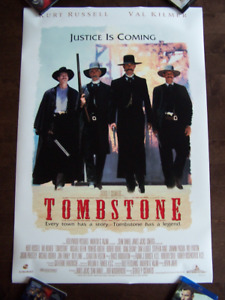 TOMBSTONE  original double sided movie theater poster