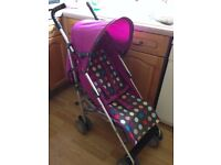 Mamas & Papas stroller pushchair . Suitable from birth, with rain cover and foot muff