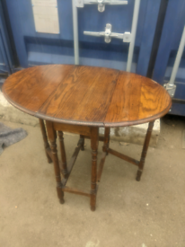 Antique drop leaf table. Good condition. Can deliver free