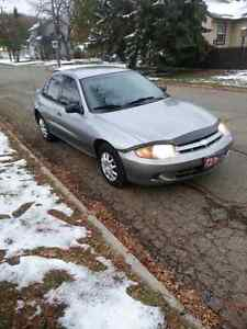 SUPER CLEAN CHEVY CAVALIER IN EXCELLENT CONDITION WITH LOW KMS!