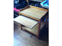 Kids Wooden Computer Desk with sliding shelf