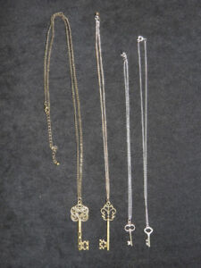 "HANDMADE ""key"" themed necklaces only $12 ea! *great gift ideas*"
