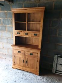 Oak Furniture Land French Farmhouse Rustic Solid Oak Welsh Dresser