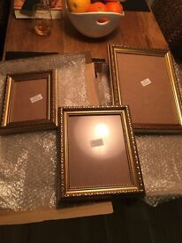 New gold colour picture frame set of 3