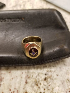 1940s Mason Ring from #1 lodge in England