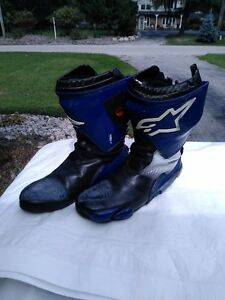 ALPINE STARS MOTORCYCLE RACE/RIDING BOOTS WITH INNER BOOT 45 Windsor Region Ontario image 6