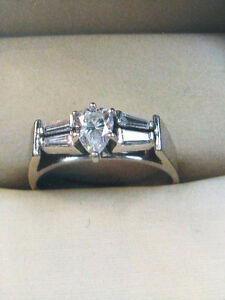 14kt white gold lady's customed designed engagement ring