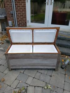 Cedar bench cooler