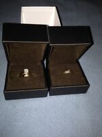 1 pair of engagement rings her her and one engagment for him