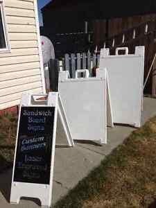 Sandwich board signs (sand fillable weighted)