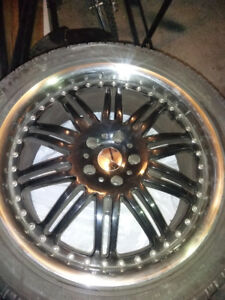 "Set of 4 - 20"" KMC wheels"